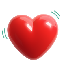 Plastic red heart